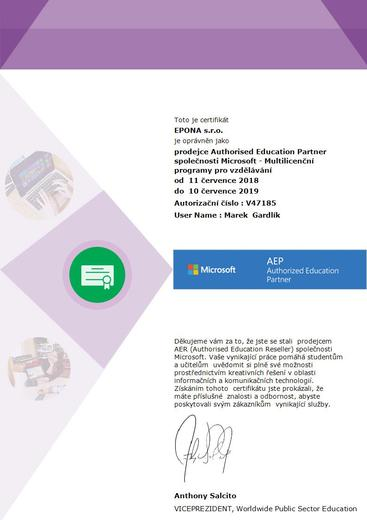 Authoriser Education Partner Microsoft
